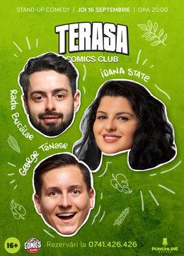 Stand-up cu Radu Bucălae, Ioana State și George Tănase pe Terasa ComicsClub!