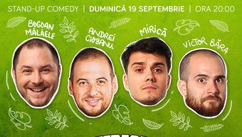 Stand-up cu Andrei Ciobanu, Bogdan Mălăele, Mirică și Victor Băra  pe Terasa ComicsClub!