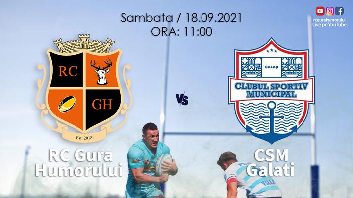 ACS Rugby Club Gura Humorului - CSM Galati/  RUGBY DNS 2021