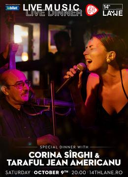Concert Corina Sîrghi & Taraful Jean American @14thlane