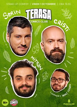 Show#1: Stand-up cu Cristi, Sorin și Mitran pe Terasa ComicsClub!
