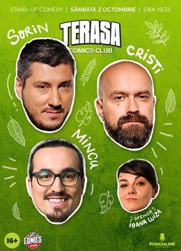 Show#1: Stand-up cu Cristi, Sorin și Mincu pe Terasa ComicsClub!