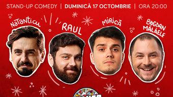 Stand-up cu Natanticu, Bogdan Mălăele, Mirică și Raul în ComicsClub!