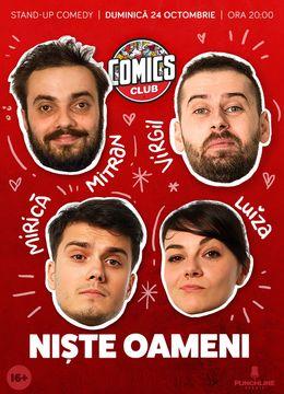 Stand-up cu Virgil, Mirică, Ioana Luiza și Mitran în ComicsClub!