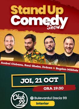 Stand up comedy la Club 99 cu Andrei Ciobanu, Raul Gheba, Dracea & Bogdan Malaele