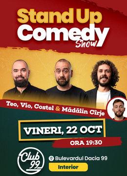 Stand up comedy la Club 99 cu Teo, Vio, Costel & Madalin Cirje