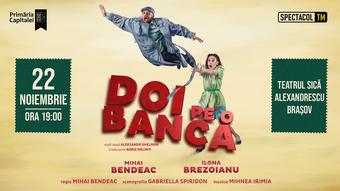 Brașov: Doi pe o bancă // Mihai Bendeac, Ilona Brezoianu
