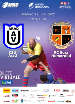 CS UAV Arad - ACS Rugby Club Gura Humorului /  RUGBY DNS 2021